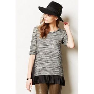 ANTHROPOLOGIE CLU + WILLOUGHBY Inkstick Pleat Top